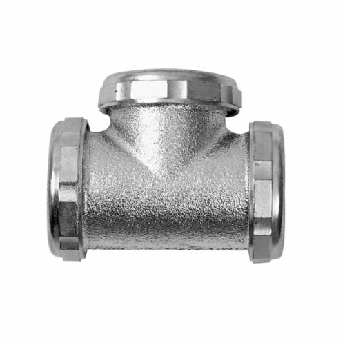 Dearborn Brass 8481 3-Way Slip Joint Tee, 1-1/2 in, 20 ga, Brass, Chrome Plated