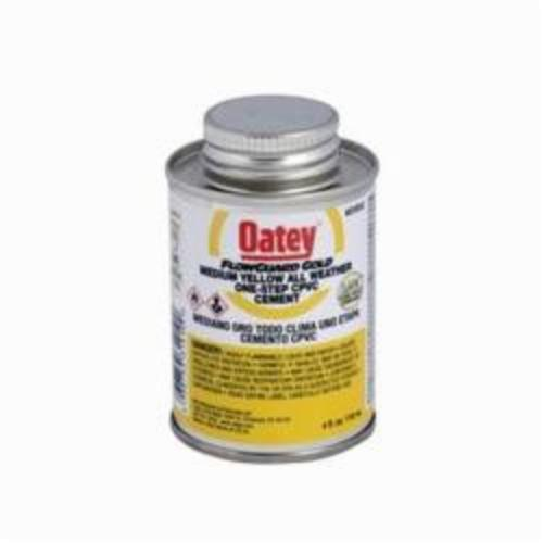 Oatey FlowGuard Gold 31910 1-Step All Weather CPVC Cement, Can, 4 oz Container, Translucent Liquid, Yellow