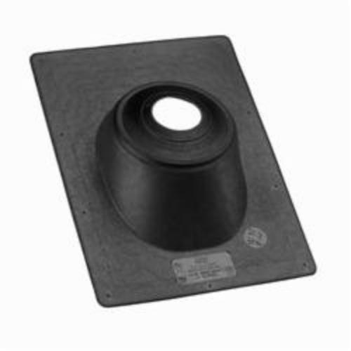 Oatey All-Flash No-Calk 11919 Roof Flashing, 15 in L x 11-1/4 in W Base, 1-1/2 to 3 in Pipe, Thermoplastic