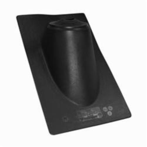 Oatey High-Rise All-Flash No-Calk 11930 Roof Flashing, 19 in L x 11 in W Base, 1-1/2 to 3 in Pipe, Thermoplastic