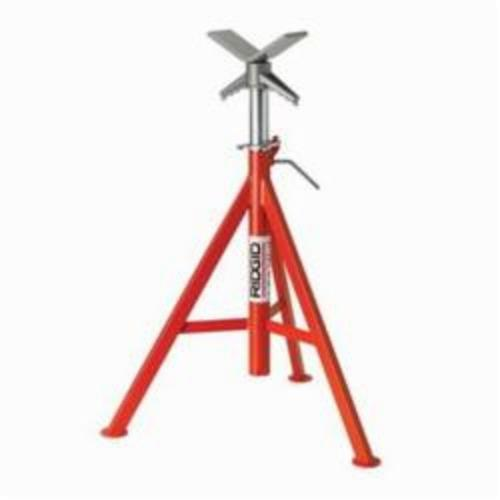 RIDGID 56662 V-Head High Pipe Stand, 12 in, 2500 lb