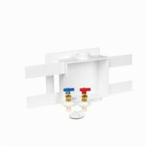 Oatey Quadtro Plain Outlet Box With Valve, For Use With Washing Machine, Polystyrene
