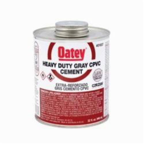 Oatey 31037 Heavy Duty CPVC Cement, 32 oz Container, Translucent Liquid, Gray, 0.97 Specific Gravity