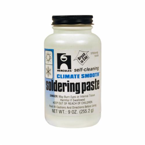 Oatey CLIMATE SMOOTH Standard Flux Soldering Paste With Cap Screw Brush, 9 oz 9 oz Container,
