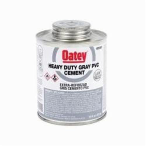 Oatey 31118 Heavy Duty PVC Cement, 1 gal Can, Translucent Liquid, Gray, 0.96 Specific Gravity