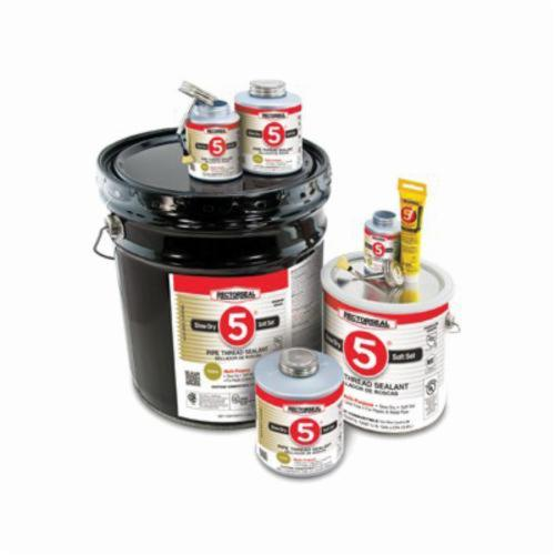 RectorSeal No. 5 25431 Premium Multi-Purpose Pipe Thread Sealant, Can 1 pt Container, Paste, Yellow, 1.38