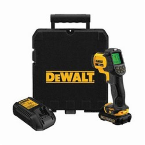 DeWALT DCT414S1 Infrared Thermometer Kit, -20 to 932 deg F, /-1.5%, /-1.5 deg C, 12:1, 0.1 to 1, Lithium-Ion Battery