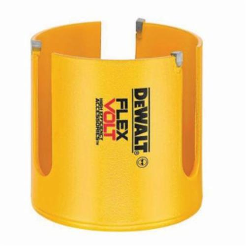 DeWALT FLEXVOLT Thin Kerf Hole Saw, 3-5/8 in Dia, 2-1/4 in Cutting, Carbide Tip Cutting Edge
