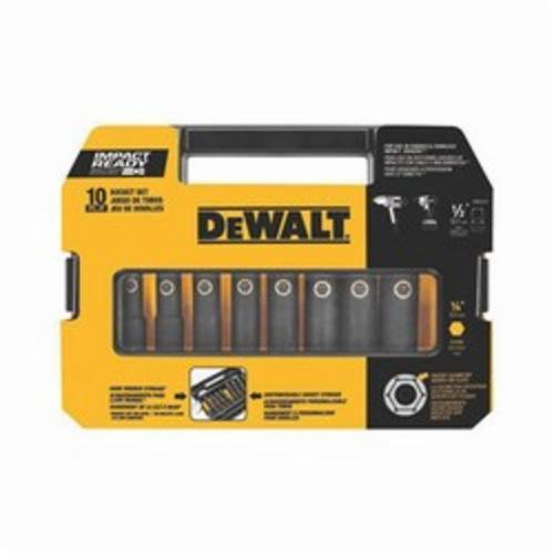 DeWALT Impact Ready DW22812 Impact Socket Set, Imperial, Impact Rated: Yes, 1/2 in Drive, 10 Pieces