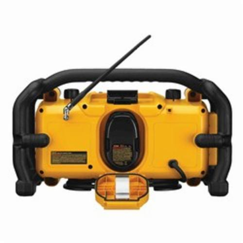 DeWALT XRP Heavy Duty Cordless Worksite Radio, 7.2 to 18 VDC, Lithium-Ion/NiCd Battery
