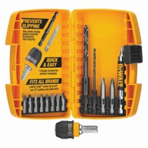 DeWALT Rapid Load Hex Drive Bit Set, 15 Pieces, HSS