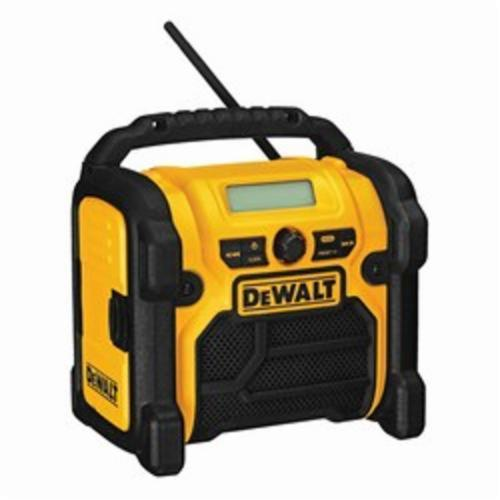DeWALT DCR018 Bare Tool Heavy Duty Cordless Worksite Radio, 12/18/20 VDC, 1.5/3 Ah Lithium-Ion/NiCd Battery