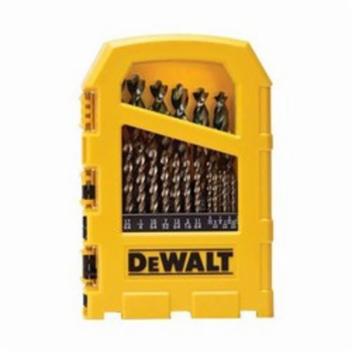 DeWALT DW1969 High Performance Drill Bit Set, 29 Pieces, 1/2 in Drill Size, Straight Shank, Split Point, HSS