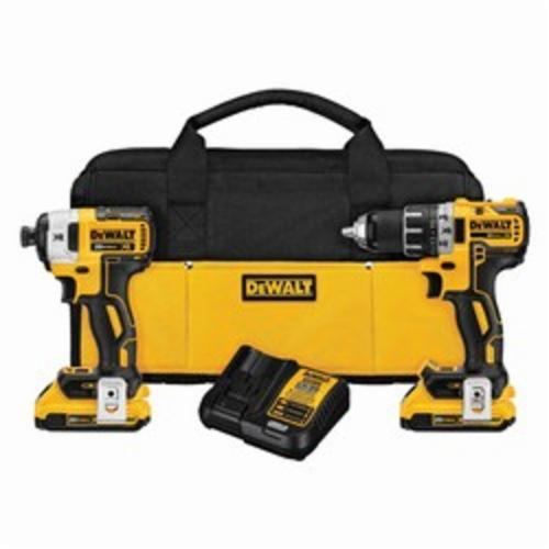 DeWALT 20V MAX* XR 2-Tool Compact Cordless Combination Kit, Yellow/Black