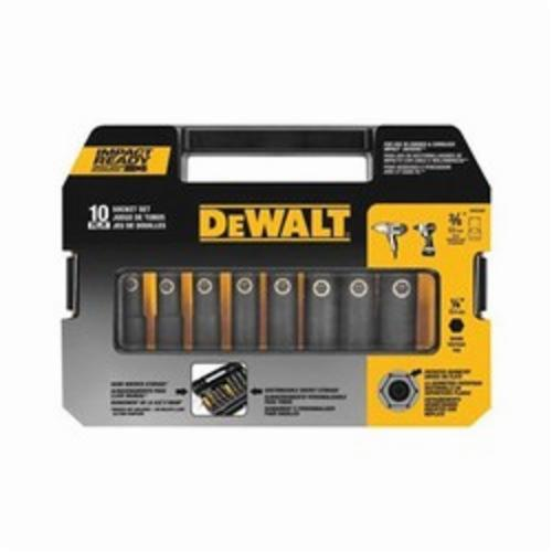 DeWALT Impact Ready DW22838 Impact Socket Set, Imperial, Impact Rated: Yes, 6 Point, 3/8 in Drive, 10 Pieces