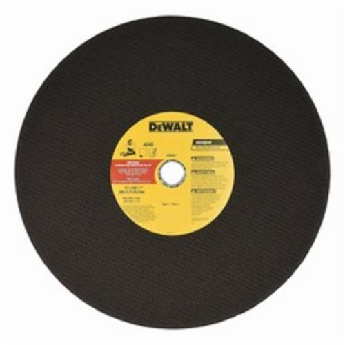 DeWALT DW8002 Type 1 Flat High Performance Chop Saw Wheel, 14 in Dia x 7/64 in THK, A24S Grit, Aluminum Oxide Abrasive