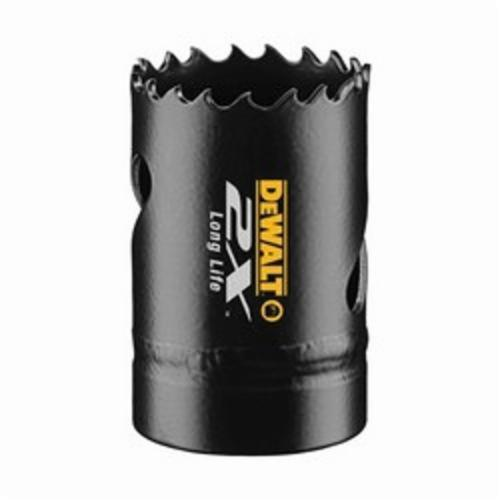DeWALT 2X Premium Hole Saw, 1-1/8 in Dia, 1-13/16 in Cutting, Bi-Metal Cutting Edge, 1/2-20