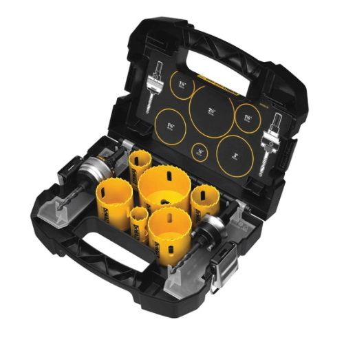 DeWALT D180002 Electrician's Hole Saw Kit, 9 Pieces, Bi-Metal