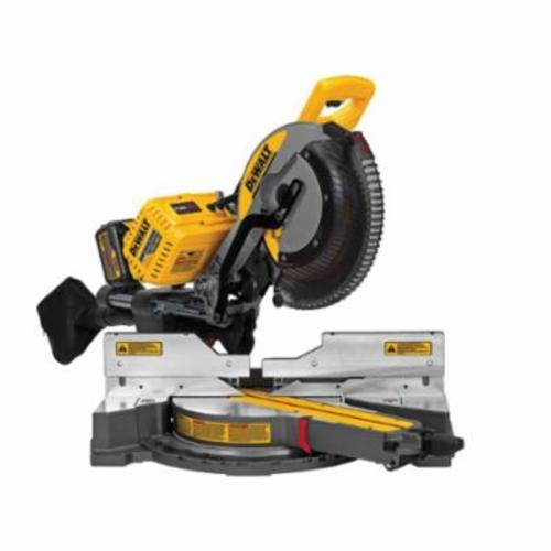 DeWALT 120V MAX* FLEXVOLT Cordless Double Bevel Compound Miter Saw Kit, 12 in Dia, 5/8 in/1 in, 16 in Cutting