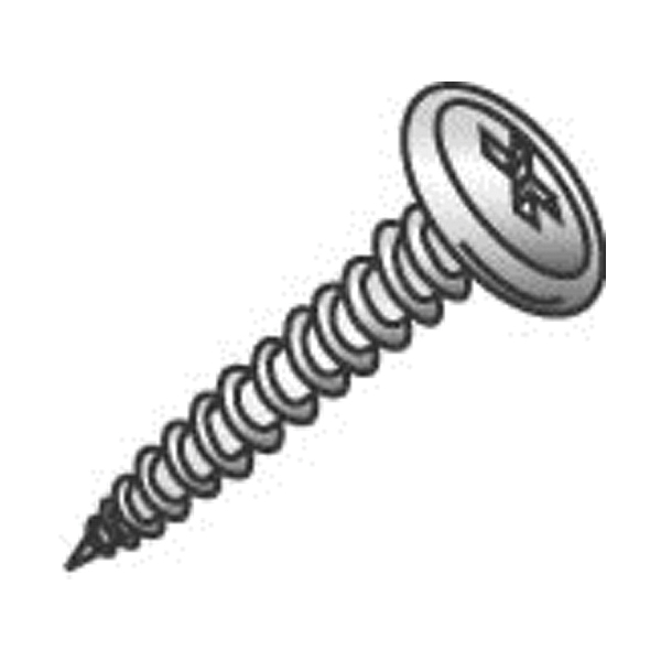 Cully 14809J Self-Tapping Sheet Metal Screw, #8-15 Thread Dia, 1/2 in L, Wafer Head, Phillips Drive, Steel, Zinc Plated