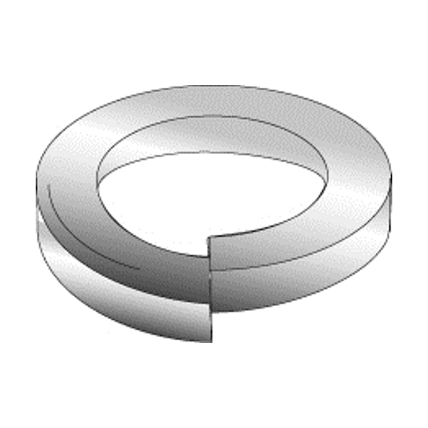 Cully 40525J Medium Split Lock Washer, 1/4 in, 0.26 in ID x 0.487 in OD, 0.062 in THK, Steel