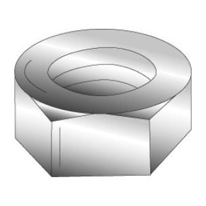 Cully 40105J Hex Nut, Imperial, #6-32, Steel, Zinc Plated, Grade A, Right Hand Thread