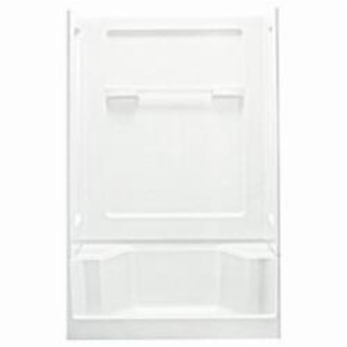 Sterling 6203 Advantage Seated Shower Back Wall, 48 in L x 34 in W x 72 in H, Solid Vikrell, White