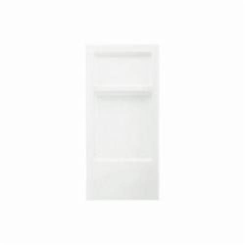Sterling 6201 Advantage Shower Back Wall, 32 in x 66-1/4 in, Solid Vikrell, Swirl-Gloss/White
