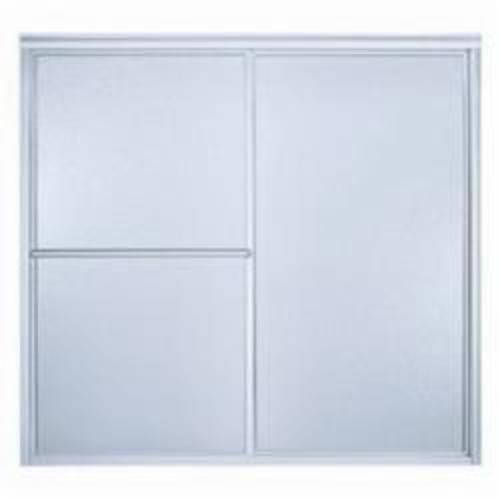 Sterling Deluxe Sliding Bath Door, 52-3/4 to 57-3/4 in W, Framed Frame, 1/8 in