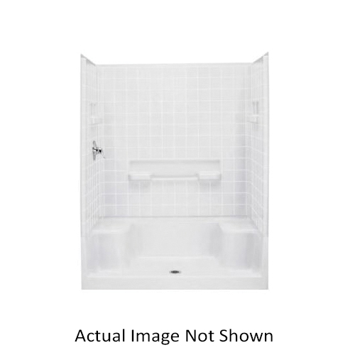 Sterling Advantage 6204 Tile Seated Shower Left End Wall, 60 in, Vikrell