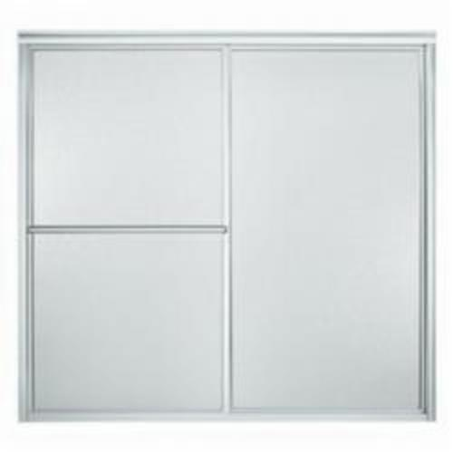 Sterling Deluxe Sliding Bath Door, 54-3/8 to 59-3/8 in W, Framed Frame, 1/8 in