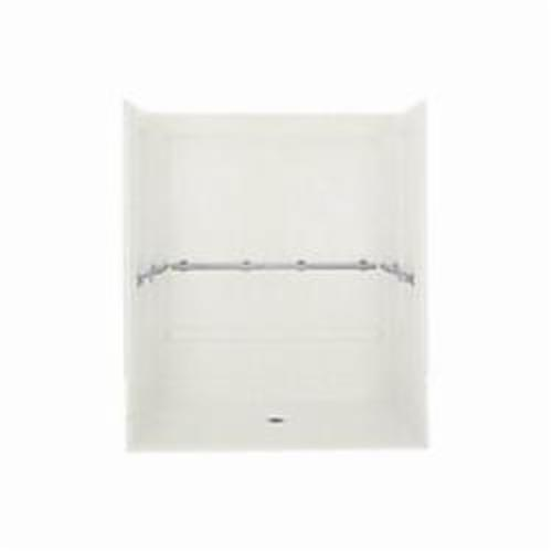 Sterling 6206 Roll-In Shower, 63-1/4 in x 40-5/8 in x 65-9/16 in, Solid Vikrell, White
