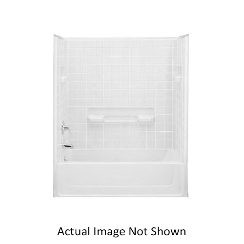Sterling All Pro 6104 Bath/Shower Left End Wall, 31-1/2 in x 60 in, Vikrell