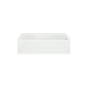 Sterling 6103 Advantage Bathtub, Rectangular, 60 in L x 30 in W, Right Drain, White