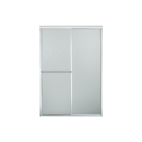 Sterling Deluxe SP5965-46S-G06 Sliding Shower Door, 41 to 46 in W x 61-15/16 in H Opening, Framed, Silver