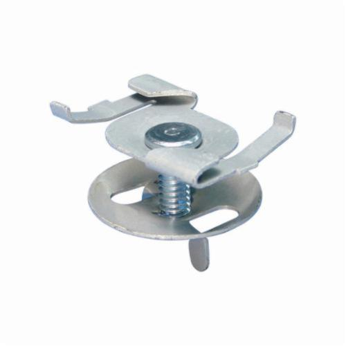 ERICO CADDY 4G16 Fixture Twist Clip With Wing Nut, 15/16 in, 50 lb Load, Spring Steel, Electro-Galvanized