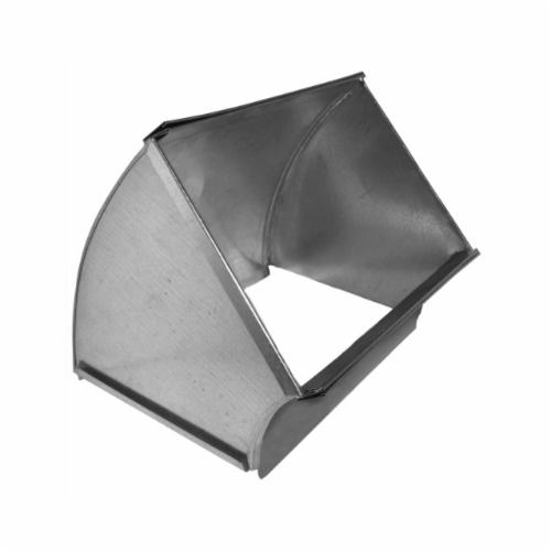 Southwark 15S168 Shortway Vertical Angle, 16 x 8 in, Square/Throat, 45 deg, Hot Dipped Galvanized, Steel, Domestic