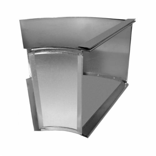 Southwark 13S208 Square Throat Broadway Flat Angle, 20 x 8 in, 45 deg, Hot Dipped Galvanized, Steel, Domestic