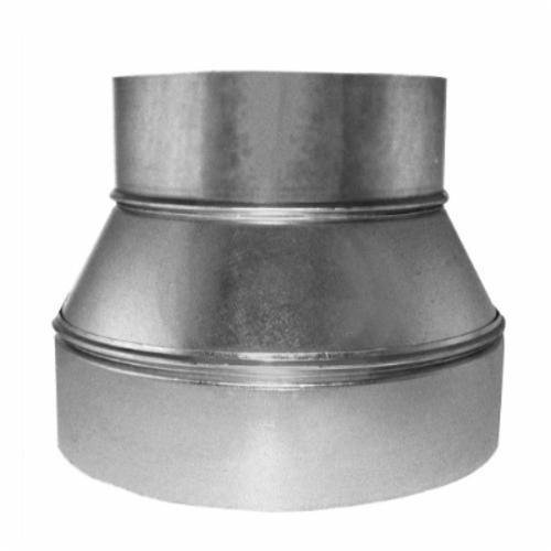 Southwark 58108 Round Tapered Reducer, 10 x 8 in, Hot Dipped Galvanized, Steel, Domestic