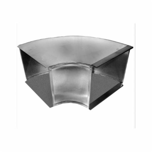 Southwark 14S248 Square Broadway Flat Elbow, 24 x 8 in, 90 deg, Hot Dipped Galvanized, Steel, Domestic