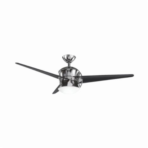 Kichler 300125MCH Contemporary Ceiling Fan, 54 in Sweep Blade, 14 deg Blade Pitch, Polycarbonate Glass Blade, Steel Housing, 6387 cfm