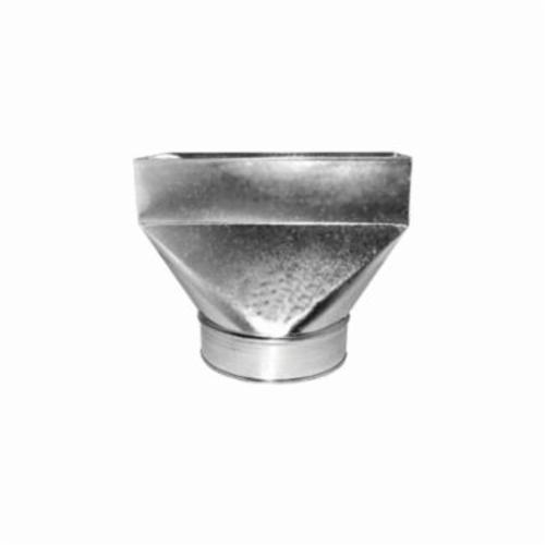 Southwark 27R2106 Straight Register Boot, 2-1/4 x 10 x 6 in, Hot Dipped Galvanized, Silver, Steel, Domestic