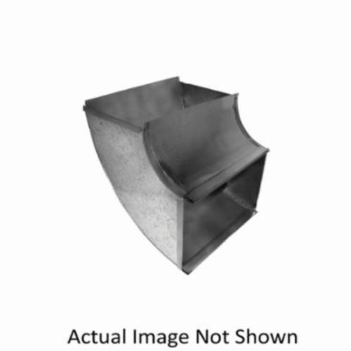 Southwark 16S88 Shortway Square Throat Vertical Elbow, 8 in, 90 deg, Hot Dipped Galvanized, Steel, Domestic