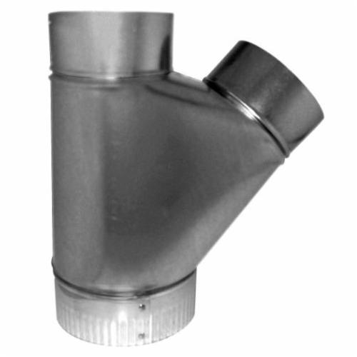 Southwark 52644 Flue Wye, 6 x 4 x 4 in, Hot Dipped Galvanized, Steel, Domestic