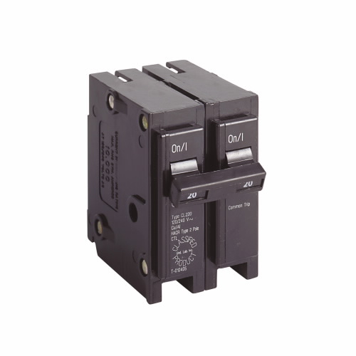 CL220 Type CL Circuit Breaker, 120/240 VAC, 20 A, 10 kA, 2 Poles, Thermal Magnetic Trip