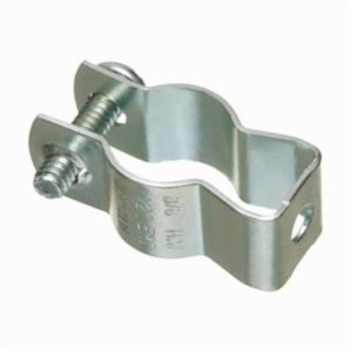 Arlington 2210 Pipe Hanger With Formed Thread Bolt, NO 1, For Use With Rigid/EMT Conduit, Steel, Plated