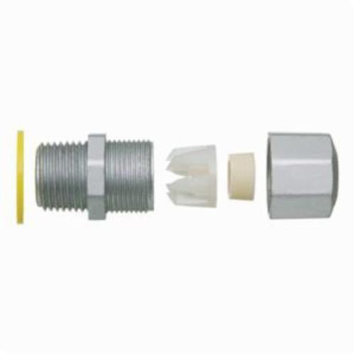 Arlington LPCG757Z Low Profile Straight Strain Relief Cord Connector With Grip, 3/4 in Trade, Zinc