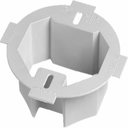 Arlington BE1R Box Extender, For Use With 3-1/2 in and 4 in Round or Octagonal Box, Plastic