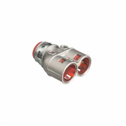 Arlington Snap2It 4040AST Duplex Cable Connector With Insulated Throat, 3/8 in Trade, 1/2 in Knockout, Die Cast Zinc