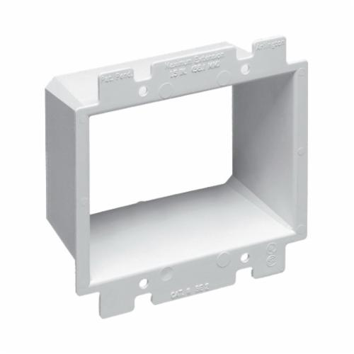 Arlington BE2 Heavy Duty Box Extender, For Use With 4 in Square Electrical Box, 2 Gangs, Plastic